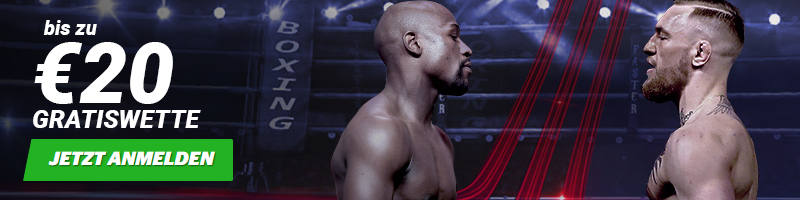20€ Freiwette mit Tipp auf Mayweather vs. McGregor bei 10Bet erhalten