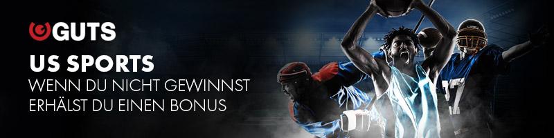 Guts bietet Bonus-Rückerstattung für Wetten auf NFL, NBA oder NHL an