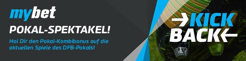 Pünktlich zum DFB-Pokal-Spieltag bei mybet 10€ Gratiswette sichern