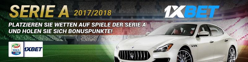 1xBet verlost tolle Preise für Wetten auf die italienische Serie A