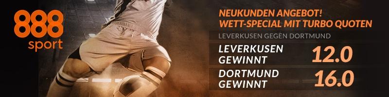 Die Anhänger von Leverkusen und Dortmund sind jetzt bei 888sport richtig
