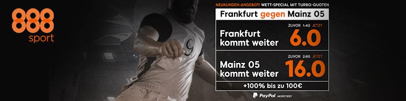 888sport mit absoluten Höchstquoten – Neukundenangebot zum Spiel Frankfurt vs. Mainz 05