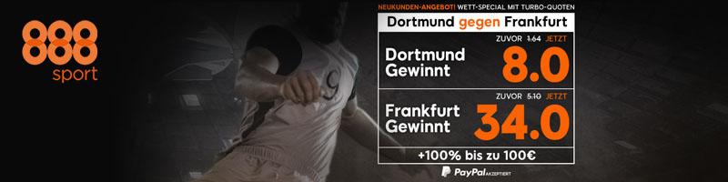 Neukunden aufgepasst: 888sport bietet für den 26. Spieltag der Bundesliga exklusive Quoten an