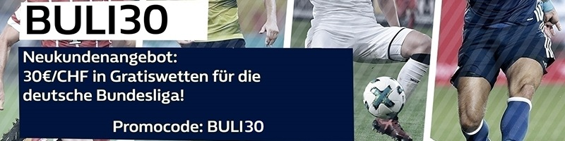 30 Euro in Gratiswetten für die Deutsche Bundesliga bei William Hill