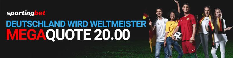 Jetzt bei Sportingbet Megaquote auf den Weltmeistertitel für Deutschland sichern