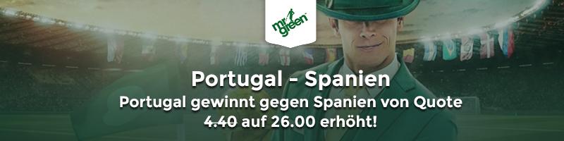 Spezialquote für Portugal gegen Spanien Quoten bei Mr Green Sport