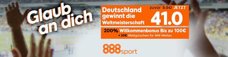 Wetten Sie auf einen WM Titel Deutschlands jetzt bei 888sport