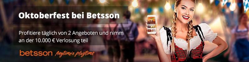 Sonderaktion zum Oktoberfest: Betsson verschenkt 5€-Wette auf ausgewählte Spiele
