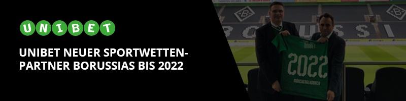 Unibet als neuer Sponsor – Kooperation mit Borussia Mönchengladbach bis 2022