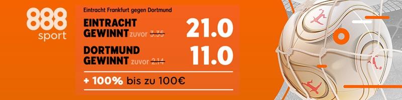 Jetzt für Eintracht Frankfurt vs. Dortmund Turboquoten bei 888sport sichern