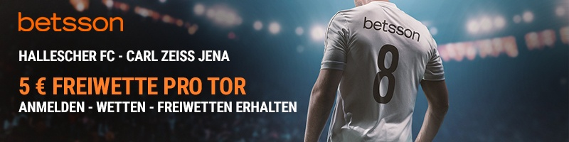 5€ pro Tor beim Spiel Hallescher FC vs Carl Zeiss – Exklusiv für Neukunden von Betsson