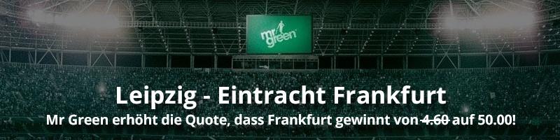 Bemerkenswerte Wettquote für Eintracht Frankfurt bei Mr Green Sport