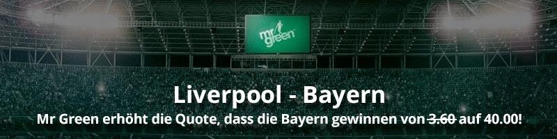 Traumquote für Bayern Sieg bei Mr Green Sport jetzt möglich