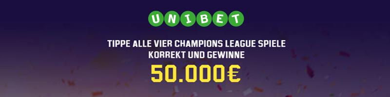 Gewinne 10.000€ garantiert mit Unibet und der Champions League