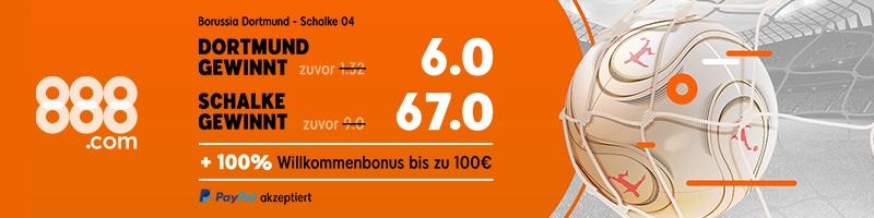 Wetten Sie auf das Spiel Borussia Dortmund – Schalke 04 jetzt bei 888sport