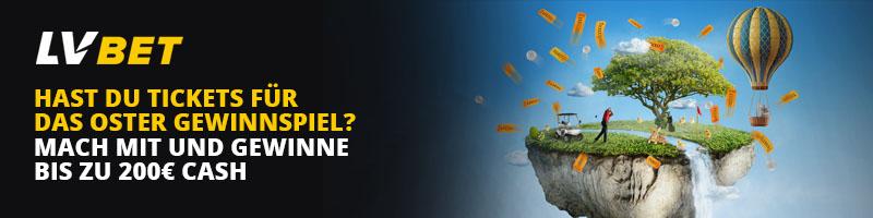 Das bunte Oster Gewinnspiel von LVbet – Es erwarten Sie bis zu 200€ für den ersten Platz