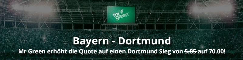 Platzieren Sie Ihre Wette auf Dortmund jetzt bei Mr Green Sport