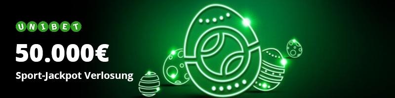 Bei Unibet warten zu Ostern tolle Gewinne in der Sport-Jackpot Verlosung