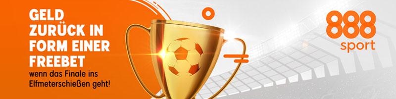 888sport bietet im Pokalfinale bis zu 20 Euro Geld zurück