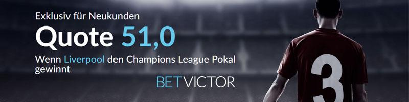 Champions League-Finale: BetVictor lockt mit Wettangebot