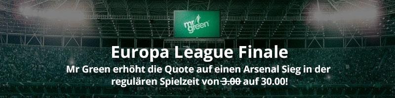 Europa League-Finale: Mr Green Sport bietet attraktive Wette an