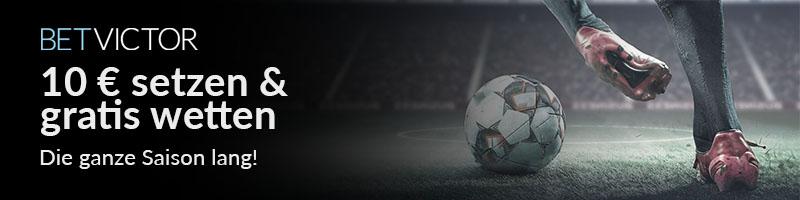 Dauerkarte bei BetVictor – 10€ setzen und eine Saison lang gratis wetten!