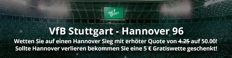 VfB Stuttgart vs. Hannover – TOP Eröffnungsspiel der 2. Fußball – Bundesliga mit TOP-Quoten von Mr Green Sport