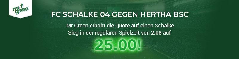 Mr Green mit Top-Quote für Schalke 04 gegen Hertha BSC