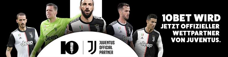 10Bet wird jetzt ofizeller Sportwetten Partner von Juventus!