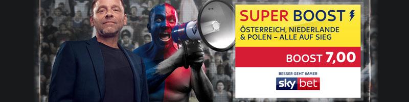 Das exklusive SkyBet Angebot: Super Boost von 7.0 beim Sieg Österreichs, Polens und der Niederlande