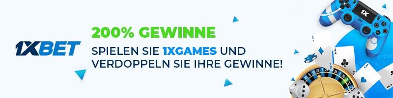 Spiele bei 1xBet die 1xGames und verdopple deine Gewinne!