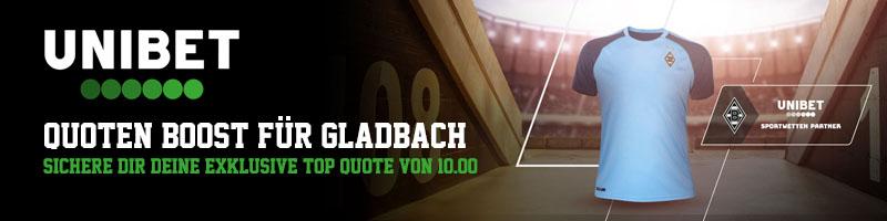 Gladbach gegen Bayern – 10.0 Quotenboost bei Unibet