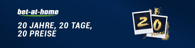Zum 20. Geburtstag hält bet-at-home zahlreiche Überraschungen für seine Spieler bereit
