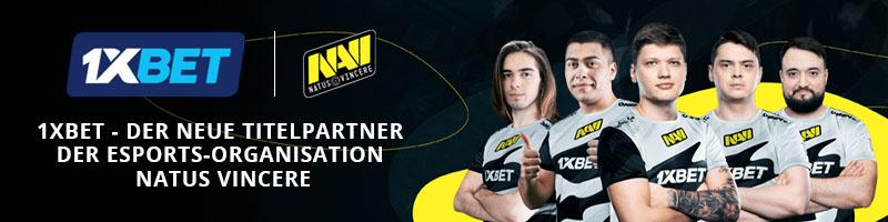 Der Wettanbieter 1xBet wird Titelsponsor von der eSports Organisation Natus Vincere
