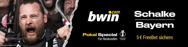 Bwin Neukundenangebot sichern und 5 Euro Free Bet für das Spiel Schalke – Bayern sichern