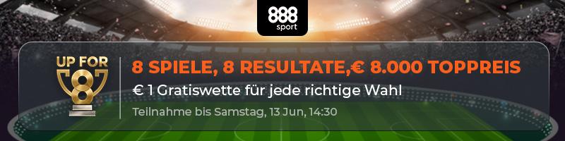 Zum Premier League-Wochenende Preise von bis zu 8000 Euro sichern bei 888sport