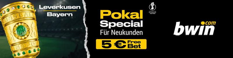 Bwin schenkt neuen Kunden 5€ Freiwette für einen Tipp auf Leverkusen vs Bayern