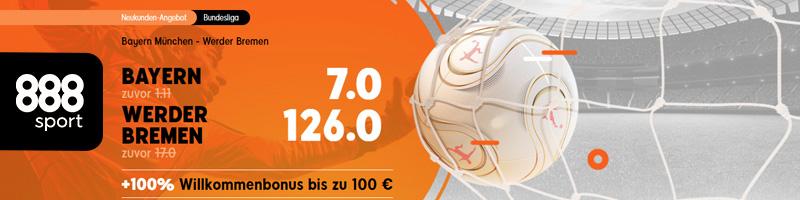 888sport bietet Spannung und attraktive Quoten für Bayern vs Werder Bremen