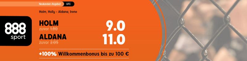 888sport mit Quotenboost bei Holm gegen Aldana