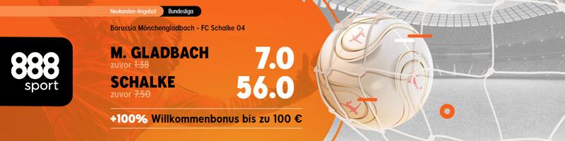 Erhöhte Quoten bei 888sport für die Fußball Bundesliga