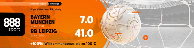 Bundesliga: Bayern München vs. RB Leipzig – Mega Quoten bei 888sport
