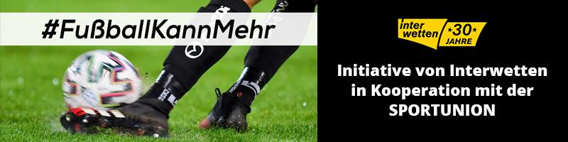 Kooperation mit der SPORTUNION – Interwetten bringt die Aktion #FußballKannMehr ins Rollen
