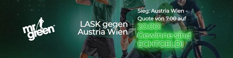 Die Österreichische Bundesliga: Top Quote von 20.00 auf den Sieg von Austria Wien – Nur bei Mr Green Sport