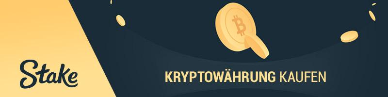 Wie man Kryptowährung bei Stake.com kaufen kann