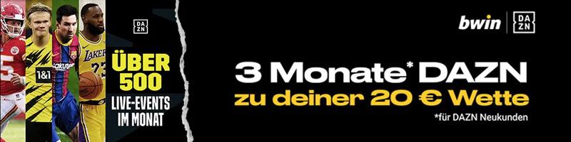 Exklusiv bei Bwin – Die DAZN Promotion zu jeder 20 Euro Wette für jede Menge Live-Events