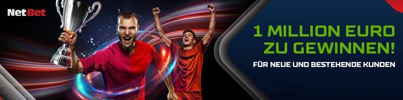 NetBet: Gewinne 1 Million Euro bei der Wahl der besten Teams in der Gruppenphase der EM