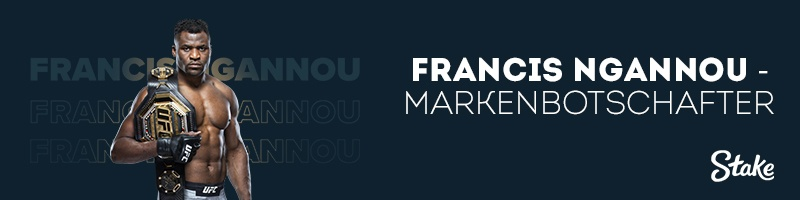 Der Buchmacher Stake.com stellt Francis Ngannou als neuen Markenbotschafter vor