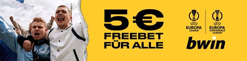 Neukunden können sich bei Bwin eine Freebet zum Start der UEFA Club-Wettbewerbe sichern